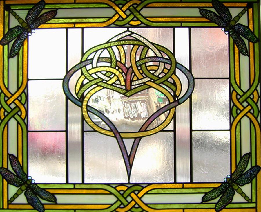 Celtic Heart Glass Art