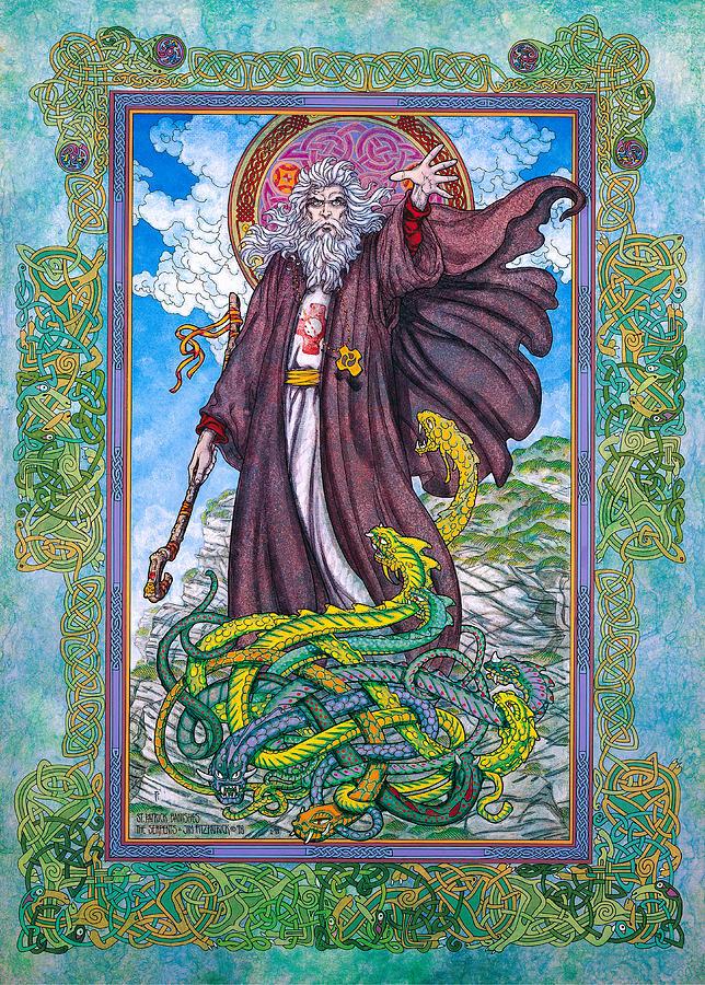 Celtic Irish Christian Art - St. Patrick Painting