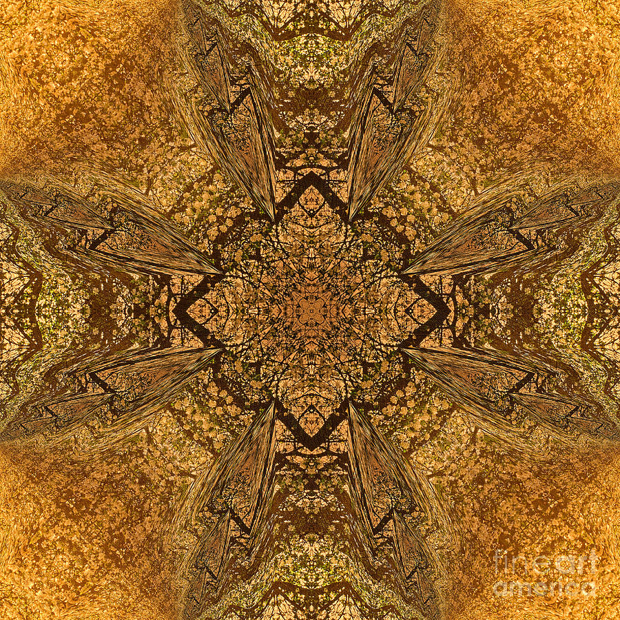Celtic Mandala Abstract Mixed Media  - Celtic Mandala Abstract Fine Art Print