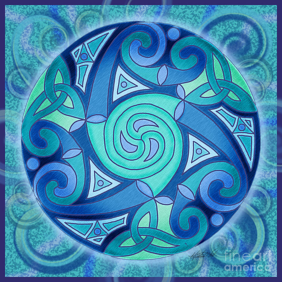 Celtic Planet Mixed Media  - Celtic Planet Fine Art Print