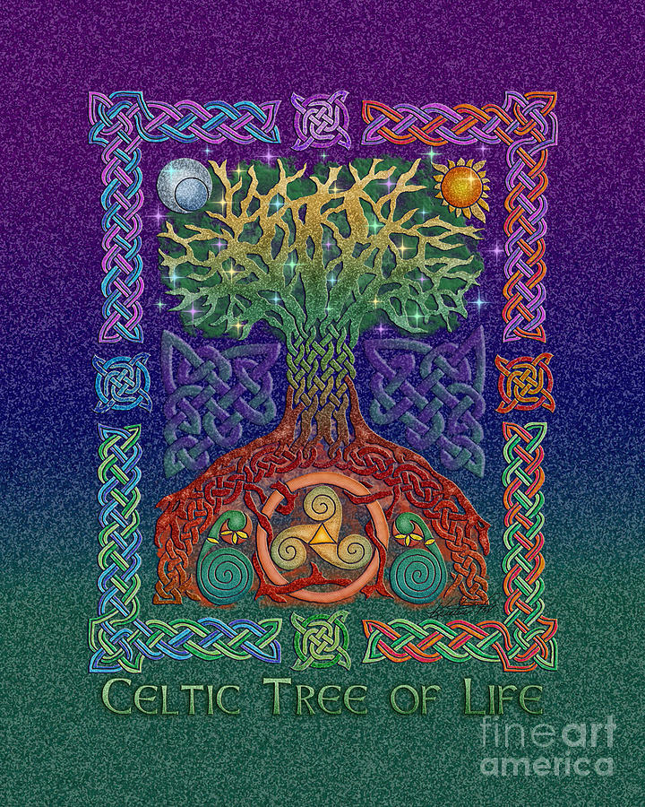 Celtic Tree Of Life Mixed Media