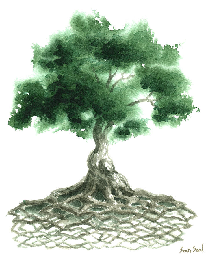 Celtic Tree Of Life Painting  - Celtic Tree Of Life Fine Art Print