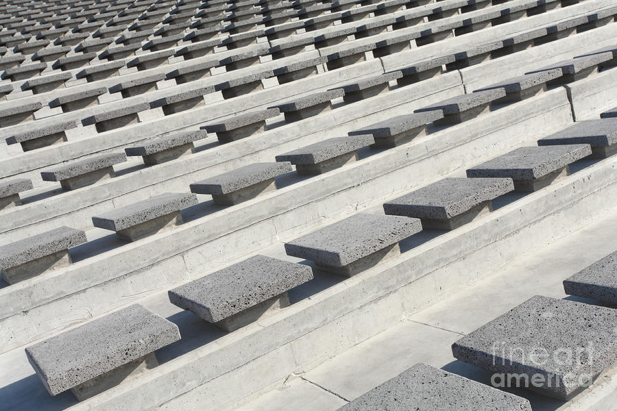 Cement Seats Photograph
