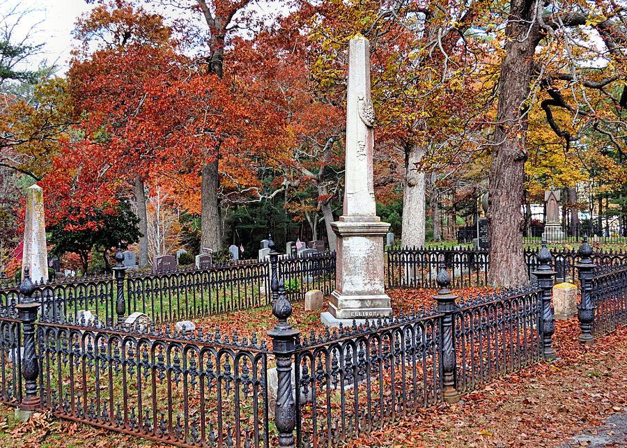 Janice Drew Photograph - Cemetery Scenery by Janice Drew
