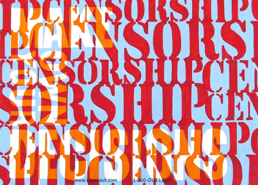 Censorship Painting  - Censorship Fine Art Print