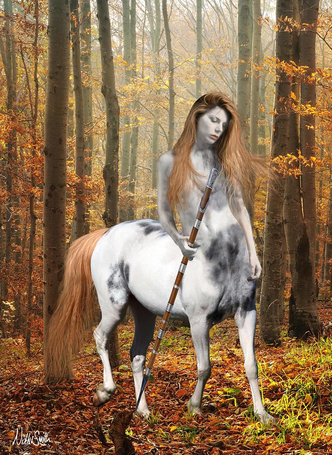 Centaur Digital Art - Centaur Series Autumn Walk by Nikki Marie Smith