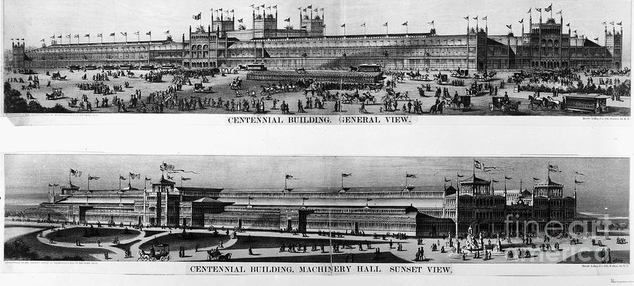 1876 Photograph - Centennial Expo, 1876 by Granger