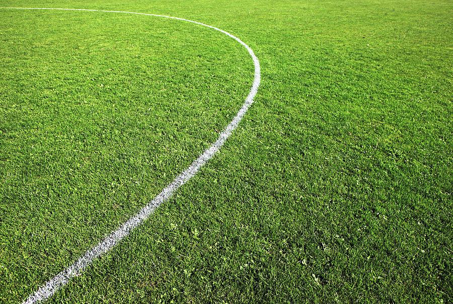 Horizontal Photograph - Center Circle On Football Pitch by Richard Newstead