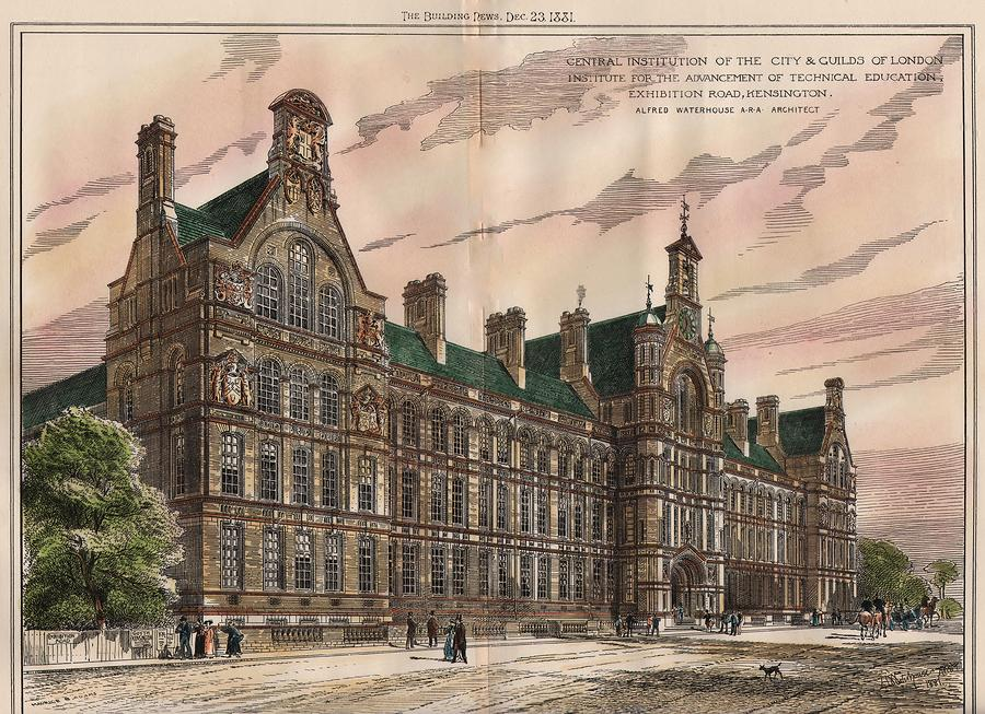 Central Institution Of The Cityy And Guilds Of London And Technical Education. London. 1881 Painting