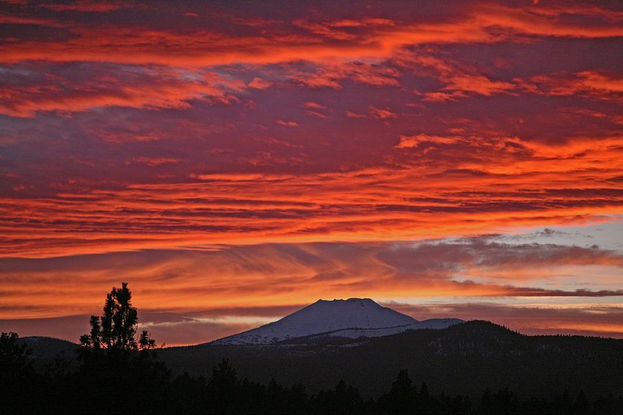 central oregon sunset by denise parker