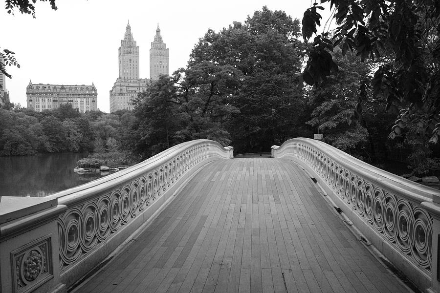 Central Park Bow Bridge With The San Remo Photograph