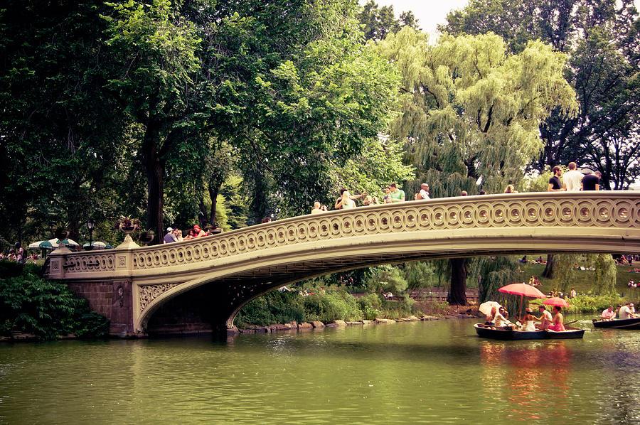New York City Photograph - Central Park Romance - Bow Bridge - New York City by Vivienne Gucwa