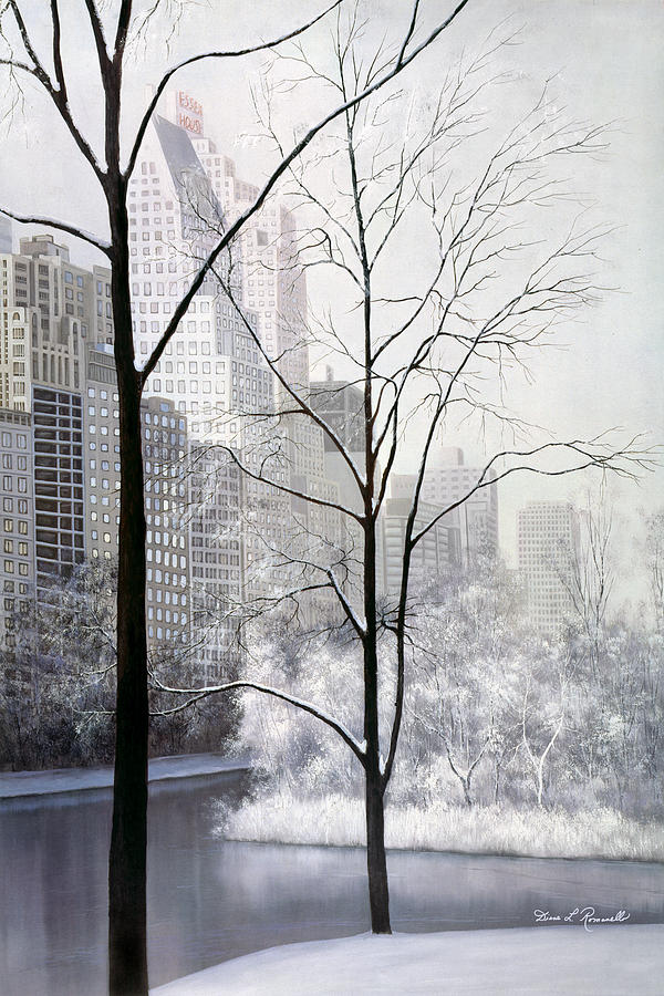 Central Park Vertical Painting  - Central Park Vertical Fine Art Print