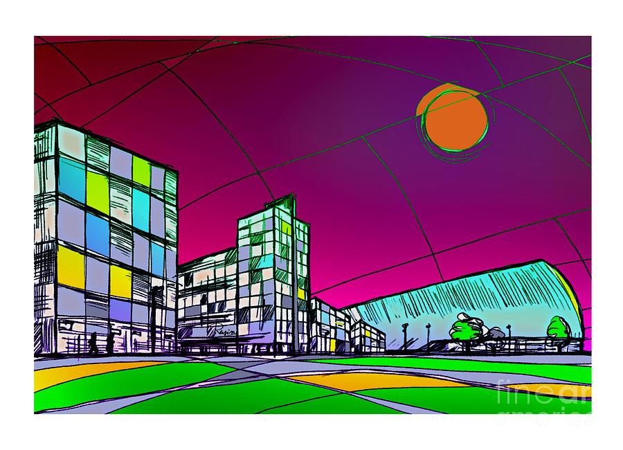 Central Skyline Digital Art