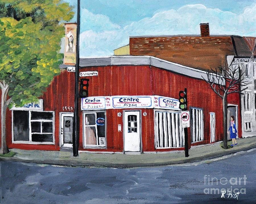 Centre Pizza Verdun Painting  - Centre Pizza Verdun Fine Art Print