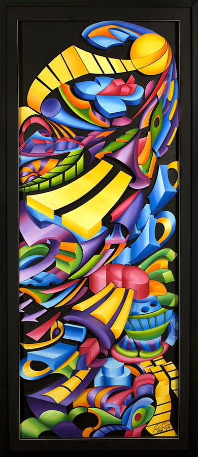 Abstract Painting - Centripicle by Jason Amatangelo