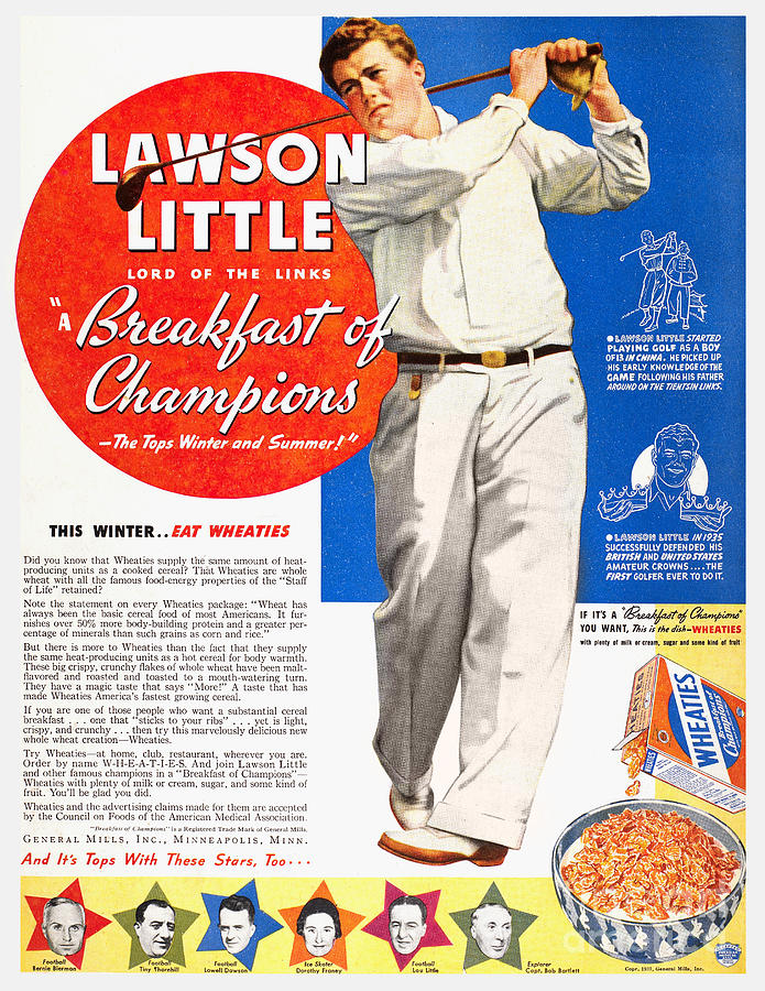 Cereal Advertisement, 1937 Photograph  - Cereal Advertisement, 1937 Fine Art Print
