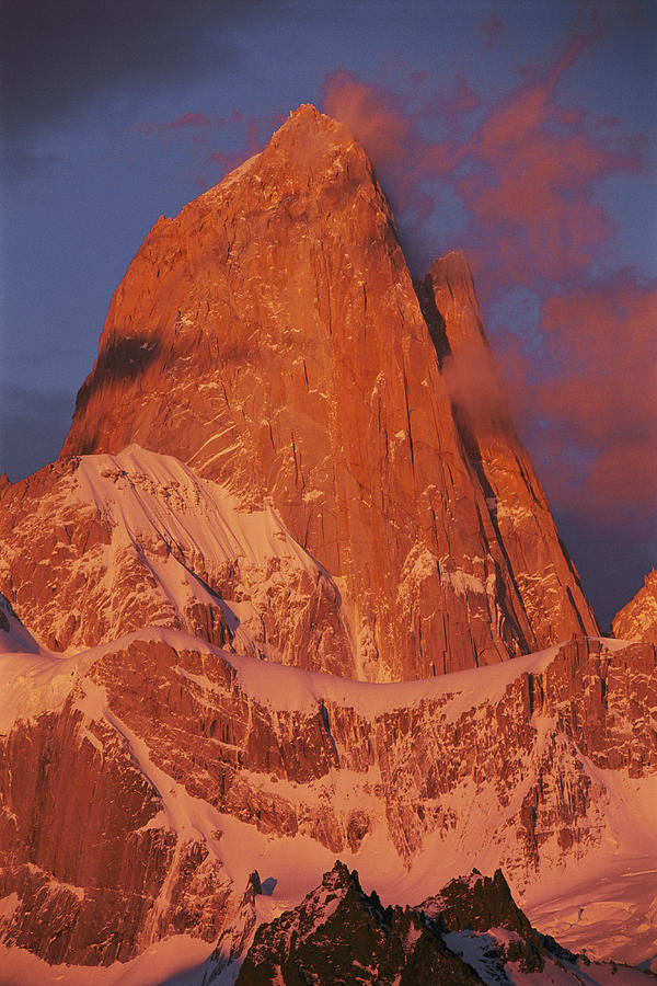Cerro Fitzroy In Morning Light Photograph  - Cerro Fitzroy In Morning Light Fine Art Print