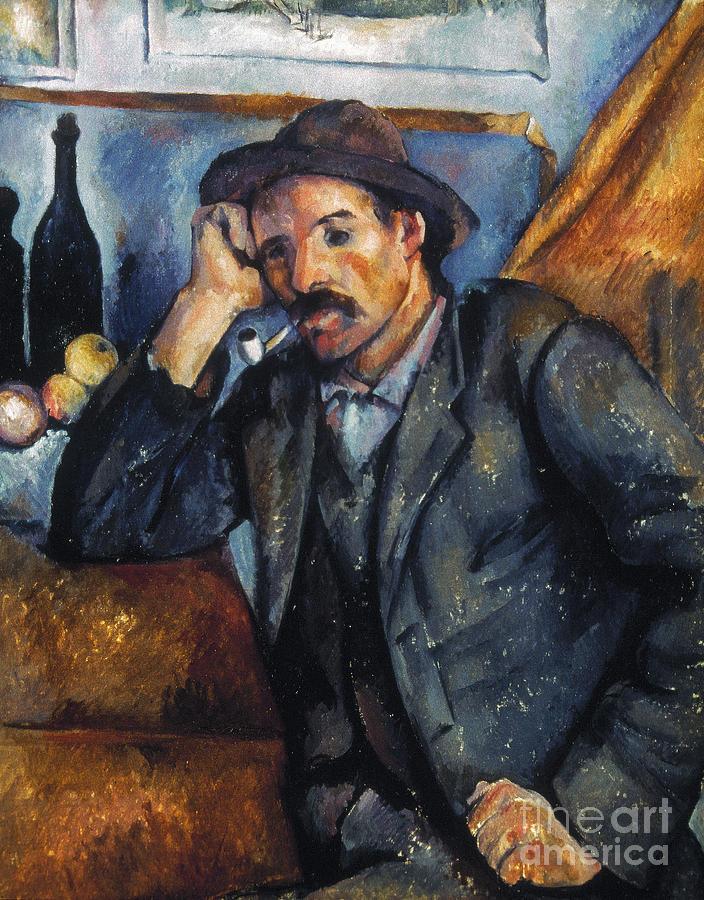 Cezanne: Pipe Smoker, 1900 Photograph