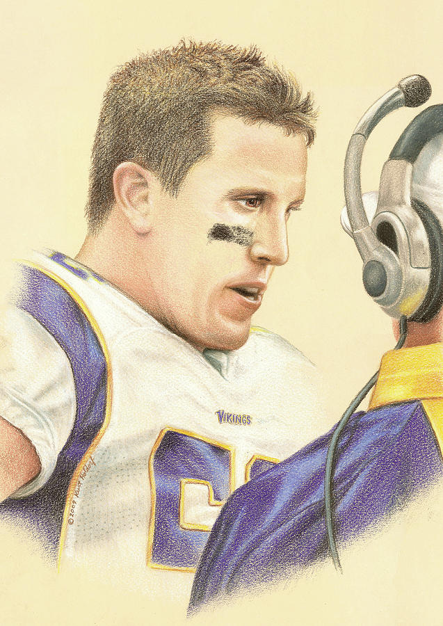 Chad Greenway Drawing  - Chad Greenway Fine Art Print