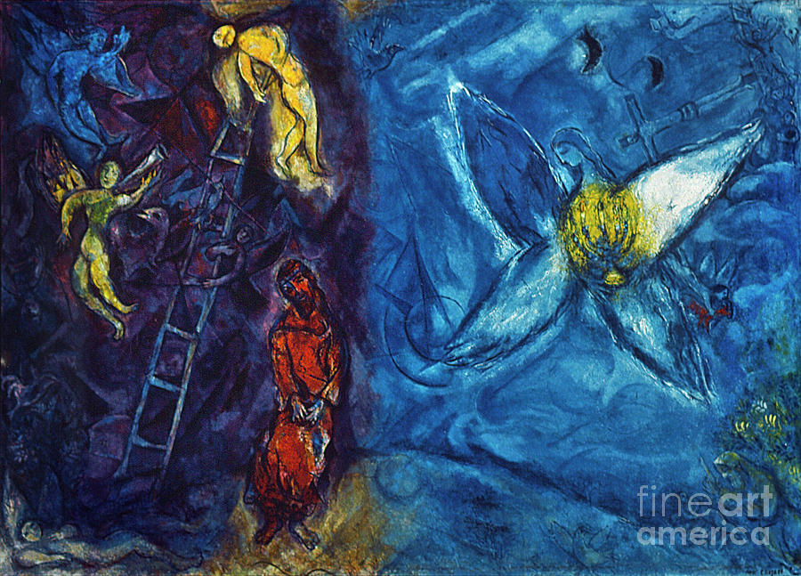 Chagall - Jacobs Dream Painting  - Chagall - Jacobs Dream Fine Art Print