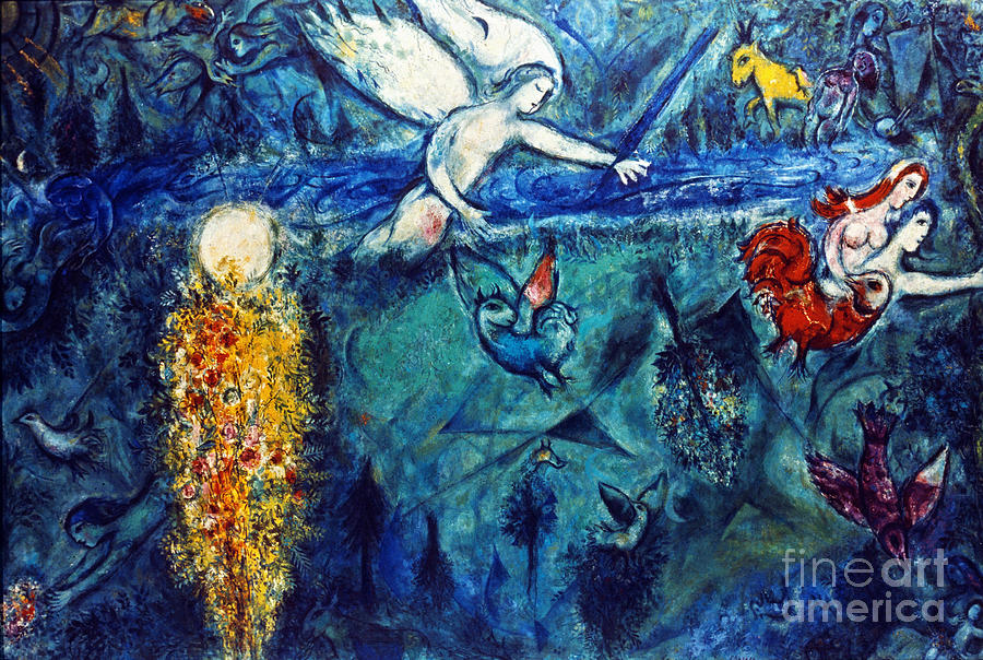 Chagall: Adam And Eve Photograph