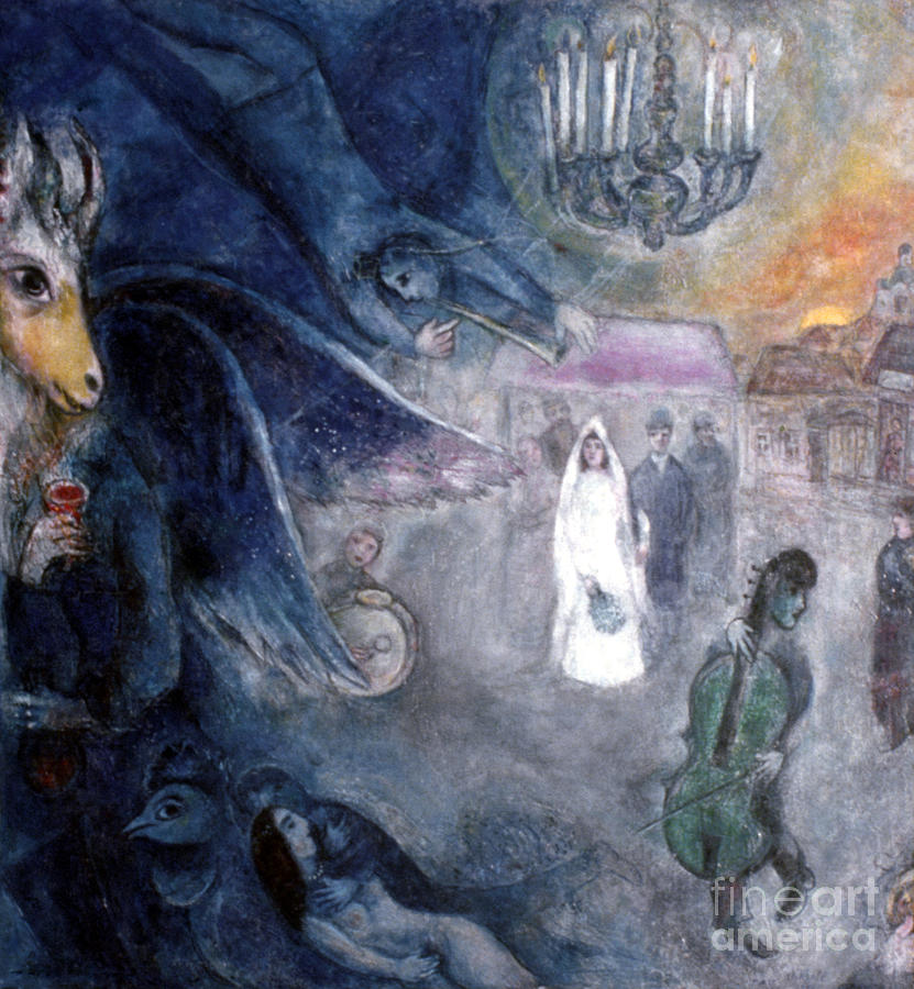 Chagall: Wedding, 1945 Photograph  - Chagall: Wedding, 1945 Fine Art Print
