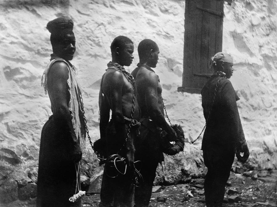 Chain Gang Of Convicts In Monrovia Photograph