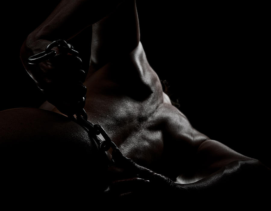 Nude Photograph - Chain On Nude by Scott Sawyer