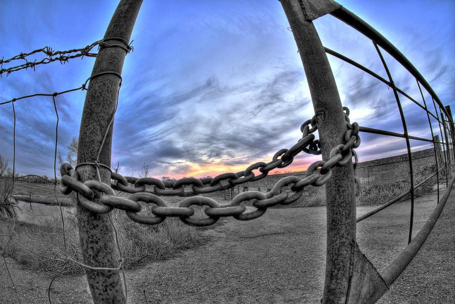 Chained Sky Photograph