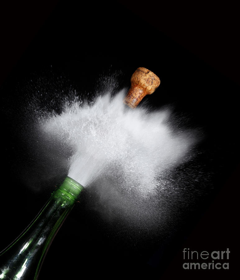 Champagne Cork Popping Photograph