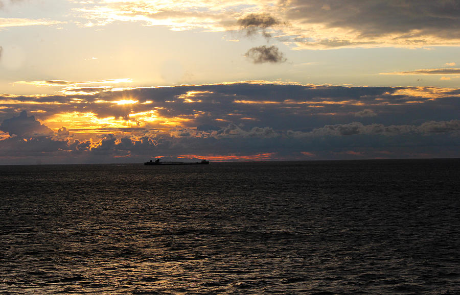 Great Lakes Shipping Photograph - Champagne Supernova by Tim  Telep