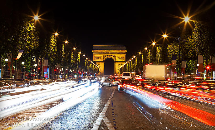 Champs-elysees And The Arc De Triomphe Photograph