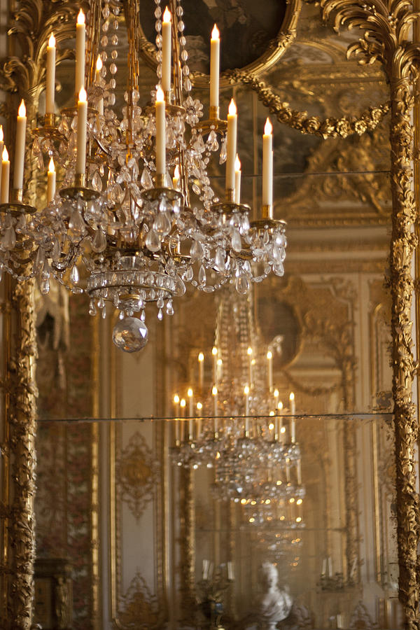 Chandelier At Versailles Photograph  - Chandelier At Versailles Fine Art Print