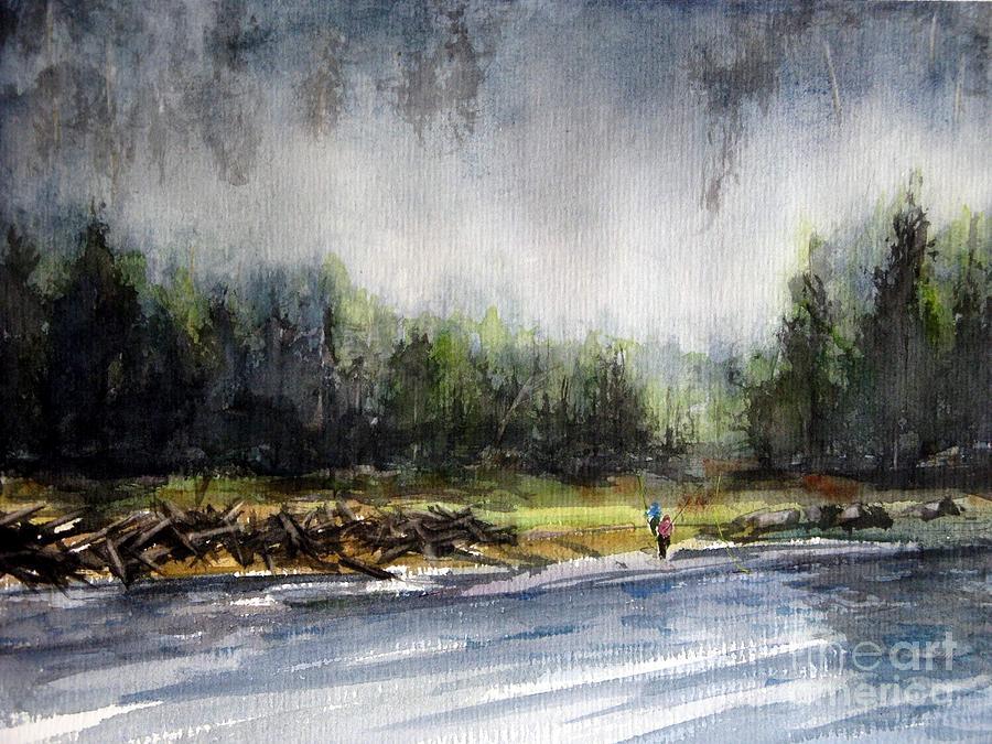 Fishing Painting - Changing Shift by Ronald Tseng