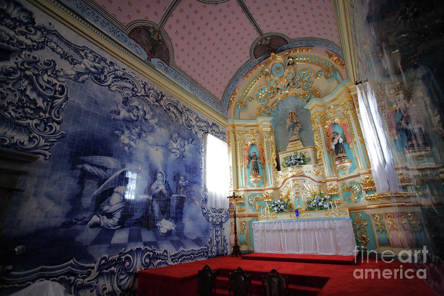 Chapel In Azores Islands Photograph  - Chapel In Azores Islands Fine Art Print