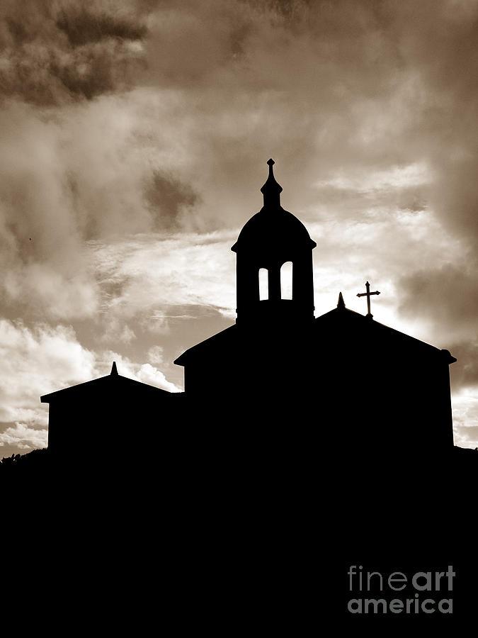 Chapel Photograph - Chapel Silhouette by Gaspar Avila