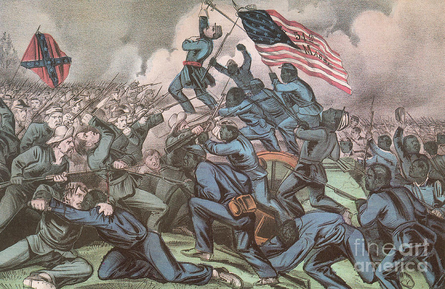 Charge Of The 54th Massachusetts Photograph