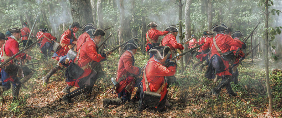 Charge Of The 60th Royal Americans Regiment At Bushy Run Digital Art