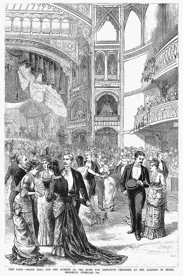 Charity Ball, 1880 Photograph  - Charity Ball, 1880 Fine Art Print