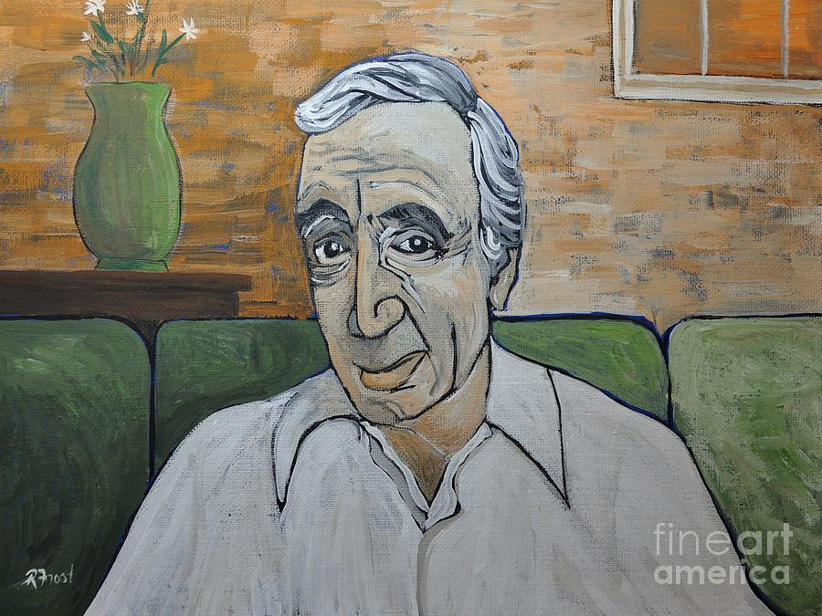 Charles Aznavour Painting