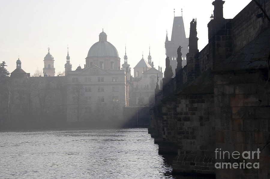 Charles Bridge At Early Morning Photograph  - Charles Bridge At Early Morning Fine Art Print