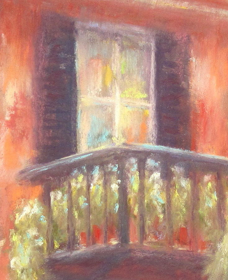 Charleston Balcony Painting  - Charleston Balcony Fine Art Print
