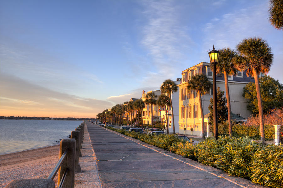 Charleston east battery row sunrise by dustin k ryan for Where to go in charleston sc