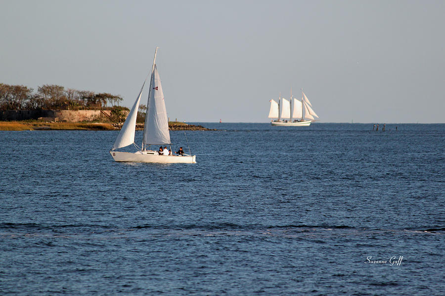 Sailboat Photograph - Charleston Harbor Scenic by Suzanne Gaff
