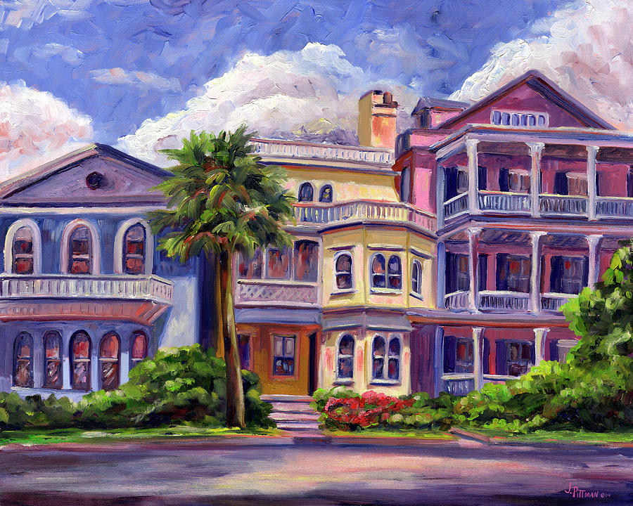 Charleston Houses Painting  - Charleston Houses Fine Art Print