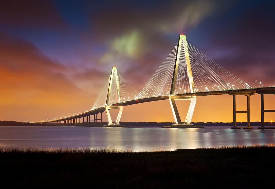 Charleston Sc - Arthur Ravenel Jr. Bridge Cooper River Photograph  - Charleston Sc - Arthur Ravenel Jr. Bridge Cooper River Fine Art Print