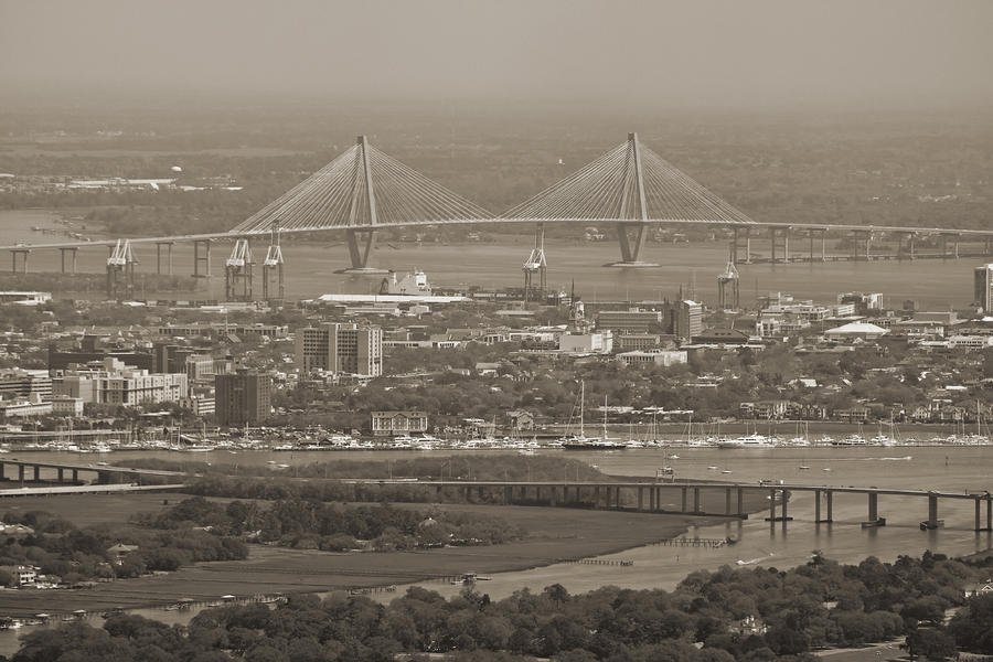Charleston South Carolina Aerial Photograph  - Charleston South Carolina Aerial Fine Art Print