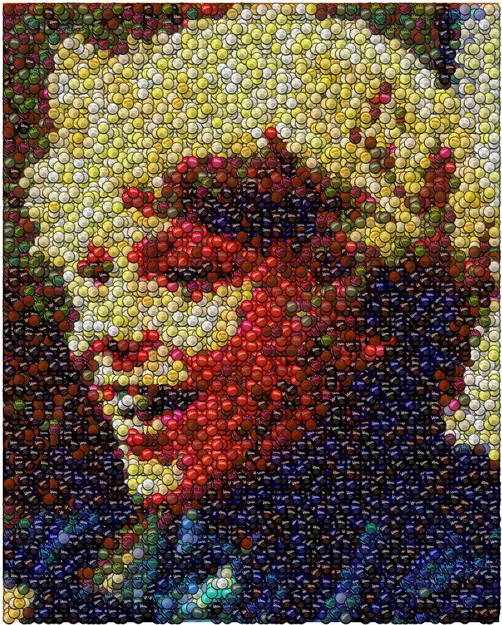 Charlie Buckets Fizzy Lifting Drinks  Bottle Cap Mosaic Digital Art
