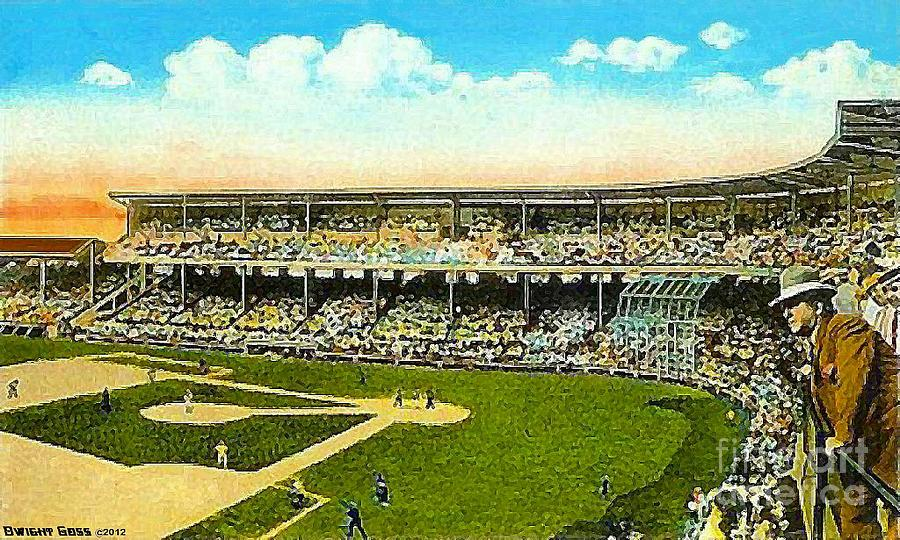 Baseball Painting - Charlie Comiskey Overlooking His Park In Chicago 1920 by Dwight Goss